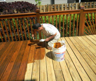 staining a deck is part of regular deck maintenance